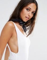 Черный платок на шею с принтом Missguided - Черный