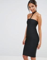 Облегающее платье‑чокер Missguided - Черный