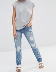 Потертые джинсы бойфренда Minkpink Street Riot - Винтажный синий