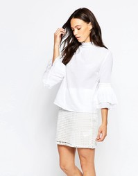 Блузка с рукавами-колокол Minimum Tinna - Белый