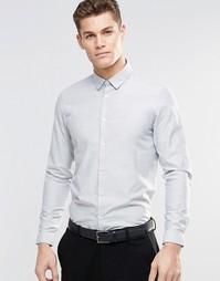 Серая меланжевая строгая рубашка с длинными рукавами ASOS - Серый