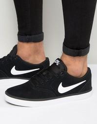 Черные кроссовки Nike SB Check Solar 843895-001 - Черный