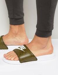 Зеленые шлепанцы Nike Benassi 631261-310 - Зеленый