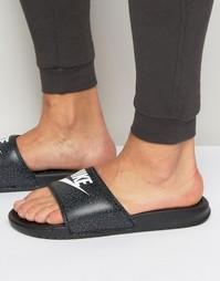 Черные шлепанцы Nike Benassi 631261-002 - Черный