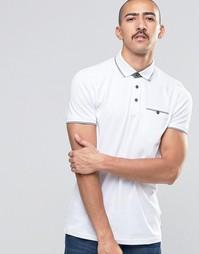 Трикотажная футболка-поло с окантовкой Ted Baker - Белый
