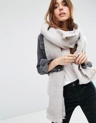 Двухцветный тканый oversize-шарф ASOS - Stone
