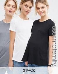 3 свободные футболки ASOS Maternity - СКИДКА 15%