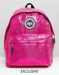 Рюкзак с отделкой пайетками эксклюзивно для Hype - Розовый