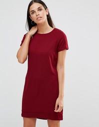 Цельнокройное платье со слегка удлиненной спинкой AX Paris - Wine