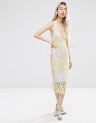 Платье-футляр миди ASOS - Мульти