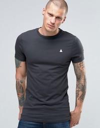 Серая облегающая футболка с логотипом ASOS - Оливковый