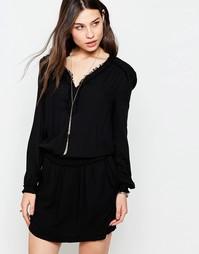 Платье с необработанной кромкой See U Soon - Черный