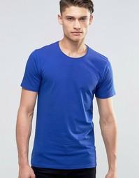 Футболка с круглым вырезом Selected Homme - Синий