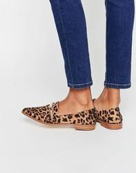 Лоферы с заостренным носком ASOS MYSTERIOUS - Leopard