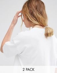 2 резинки для волос с металлической планкой ASOS - Белый