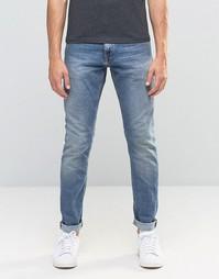 Светло-голубые выбеленные узкие джинсы Jack & Jones - Светло-голубой
