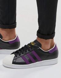 Черные кроссовки в стиле 80‑х adidas Originals Superstar BB3718