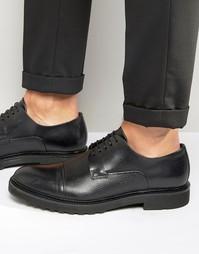 Дерби со вставкой на носке Hugo Boss - Черный