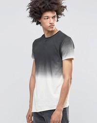 Облегающая футболка с эффектом деграде Kubban Denim - Бежевый