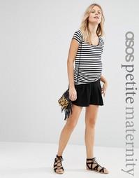 Юбка-шорты со складками для беременных ASOS Maternity PETITE - Черный