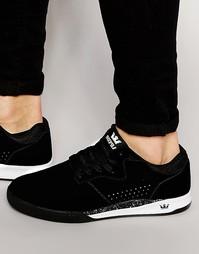 Замшевые кроссовки Supra Quattro - Черный
