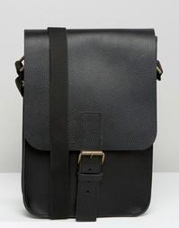 Кожаная сумка английского производства ASOS - Черный