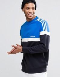Свитшот с круглым вырезом adidas Originals Itasca AY7714 - Синий