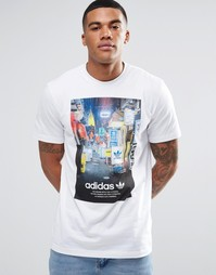 Футболка с принтом adidas Originals AZ1481 - Белый