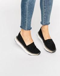 Черные эспадрильи с логотипом Calvin Klein Jeans Genna CK