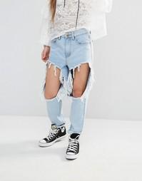 Рваные джинсы Boohoo - Светло-голубой