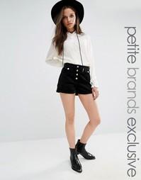 Вельветовые шорты с завышенной талией для миниатюрных Glamorous Petite