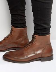 Кожаные ботинки Hudson London Greenham - Коричневый