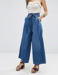 Широкие джинсы ASOS - Выбеленный голубой