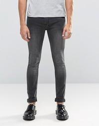 Черные джинсы скинни Religion Hero - Black veins