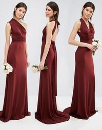 Платье макси TFNC Tall Wedding - Ромовый изюм
