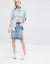 Джинсовая юбка ADPT - Синий