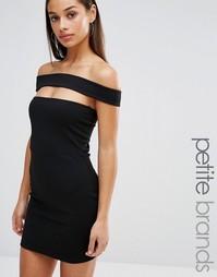 Облегающее платье с вырезом Missguided Petite - Черный