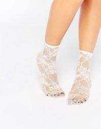 Кружевные носки ASOS - Розовый
