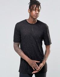 Oversize-футболка в крапинку Kubban - Черный