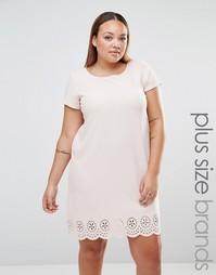 Цельнокройное платье с лазерной резной отделкой Praslin Plus - Blush