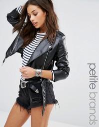 Куртка из искусственной кожи Missguided Petite - Черный