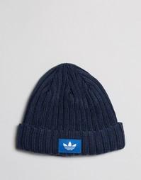 Темно-синяя шапка‑бини adidas Originals AY9310 - Темно-синий