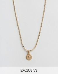 Ожерелье с подвеской-звездой в стиле милитари Reclaimed Vintage