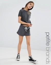 Беговые шорты с полосками по бокам Boohoo Petite - Серый сланец