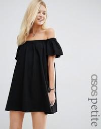 Платье мини с открытыми плечами ASOS PETITE