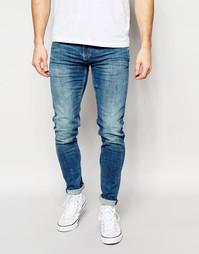 Светлые джинсы скинни Pepe Jeans Powerflex Finsbury - Синий