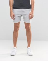 Трикотажные шорты в рубчик Another Influence - Серый