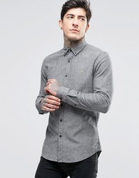 Оксфордская рубашка слим Farah - Гравий