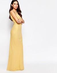 Платье макси VLabel River - Золотой