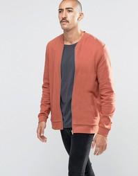 Красная выбеленная трикотажная куртка‑пилот ASOS - Auburn